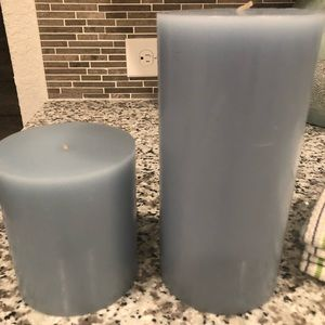 Brand New Set of 2 Lg Pottery Barn Candles